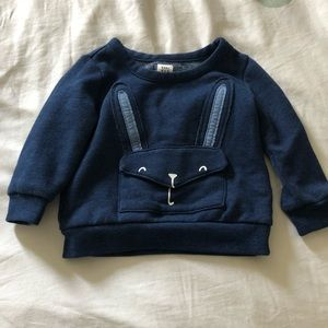 Blue toddler dress sweater